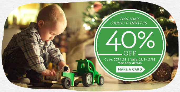 Save 40% off Holiday Cards &am...