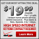 $19.99 a month Verizon High Speed Internet Coupon