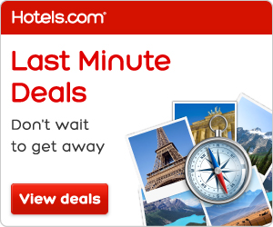 Find Last Minute Deals from Hotels.com!