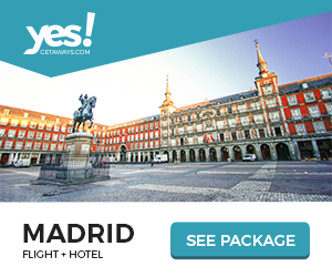 Image for Yes!Getaways | Madrid | Banner 300 x 250 | Evergreen