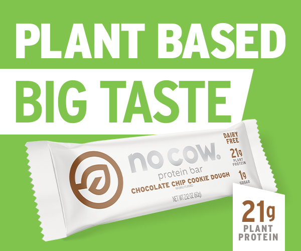 no cow plant based protein bars