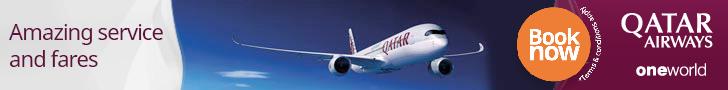 Book your flight on Qatar Airways!