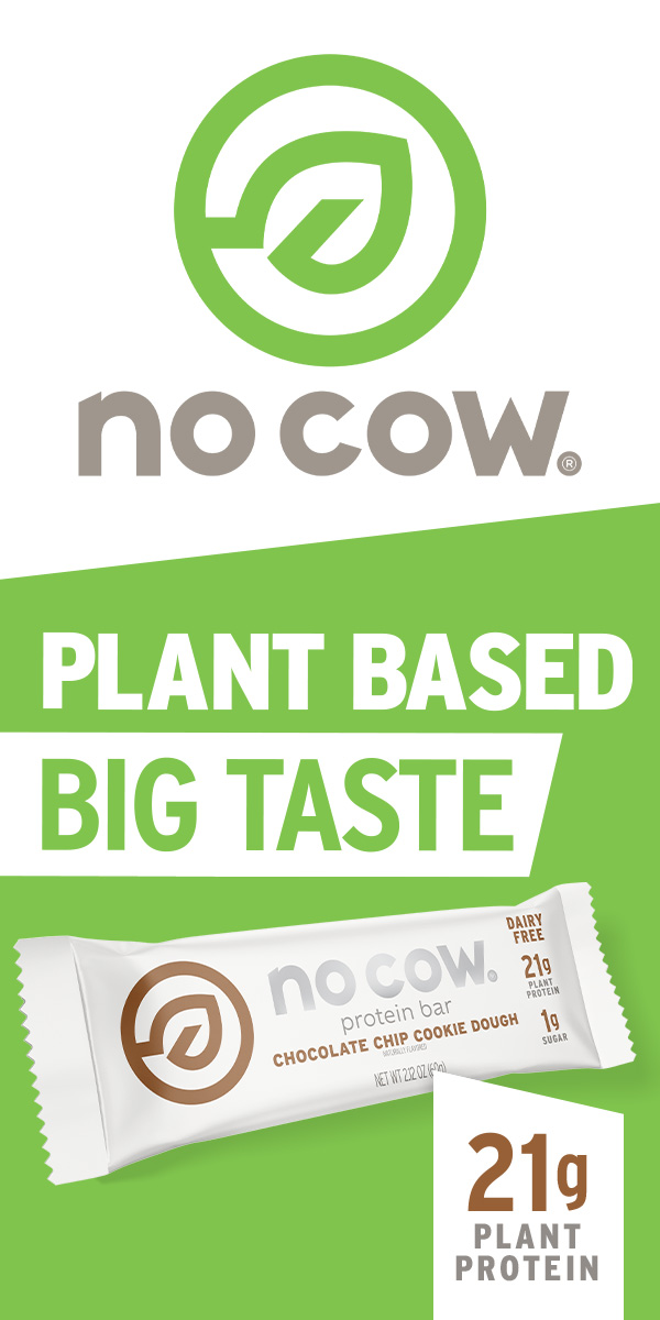 no cow plant based protein bar