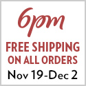 6PM Free Shipping Week 125x125 Banner