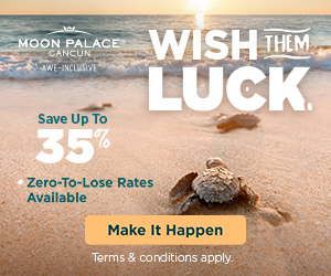 Warm up your winter with 2 for 1 savings to enjoy at Moon Palace Cancun.