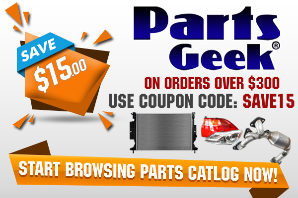 Save $15 With Coupon Code SAVE15 at PartsGeek!
