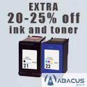 Extra 20-25% off ink and toner