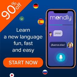 Learn a new language fun, fast and easy! Get 90% off Mondly!
