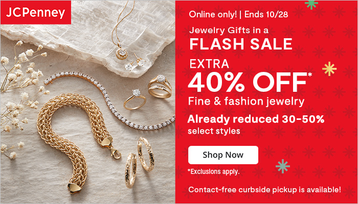 JCPenney Jewelry Gifts Flash Sale + Extra 40% off with Code!