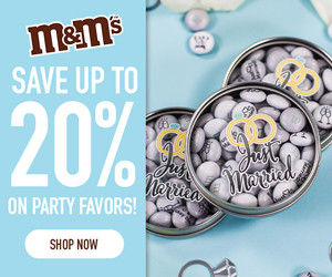 10% off 60+ Favors or 20% off 100+ Favors! Use Code FORYOU! Valid 7/4-7/10!
