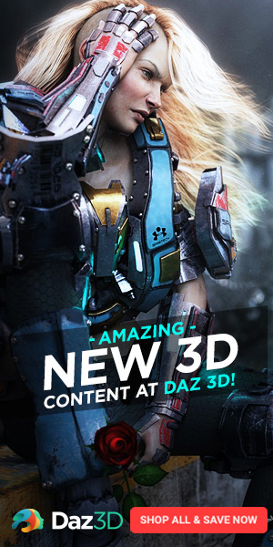 Amazing New Content at Daz 3D 300 x 600
