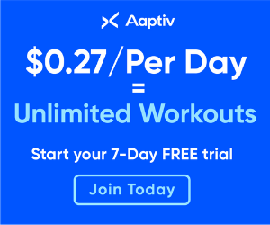 $0.27 per day = unlimited workouts