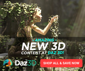 Amazing New Content at Daz 3D 300 x 250