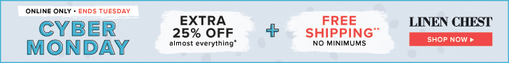 Cyber Monday Deal: Extra 25% Off Almost EVERYTHING + Free Shipping NO Minimum using code CYBERMONDAY