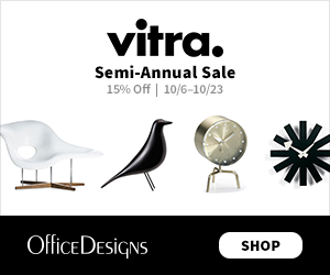 Save 15% off during the Vitra Semi-Annual Sale. (Valid 10/6/17 - 10/19/17)
