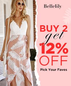 Buy 2 Get 12% Off at Bellelily.com