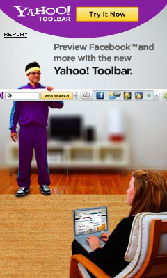 Yahoo! Toolbar - Facebook 240x400