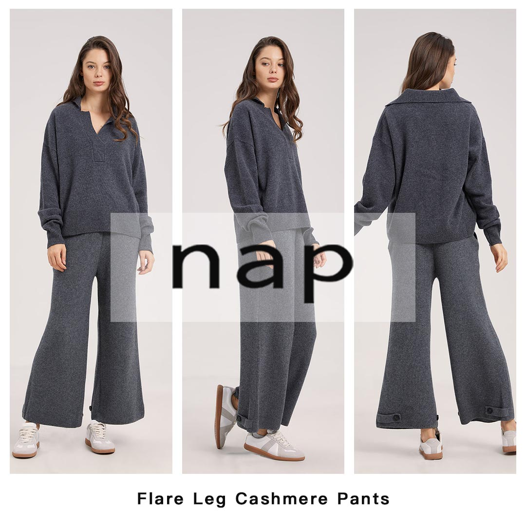 Flare Leg Cashmere Pants