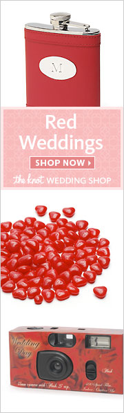 Red Weddings at The Knot Wedding Shop