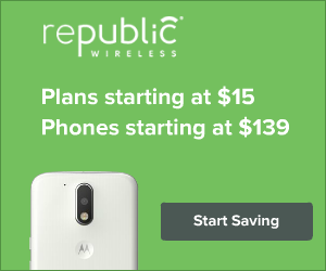 Republic Wireless plans starting at $15 /month