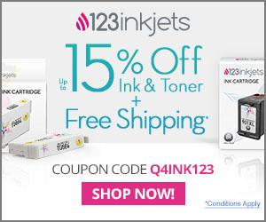 123 Inkjets Promo Code - Save 15% on ink & toner plus free shipping with promo code