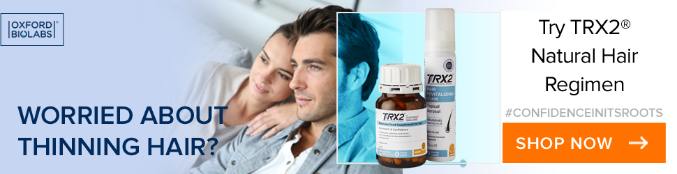 Address hair loss with TRX2 capsules and revitalising foam molecular hair regimen