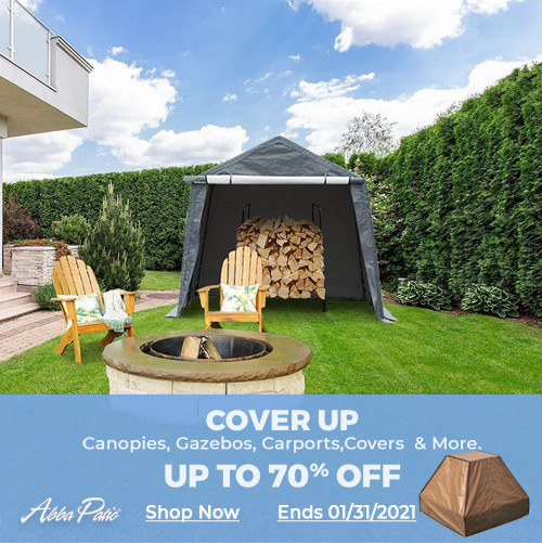 Shop Now! Up to 70% Off on Selected Canopies, Gazebos, Carports & More! No Code Needed! Ends 1/31/20
