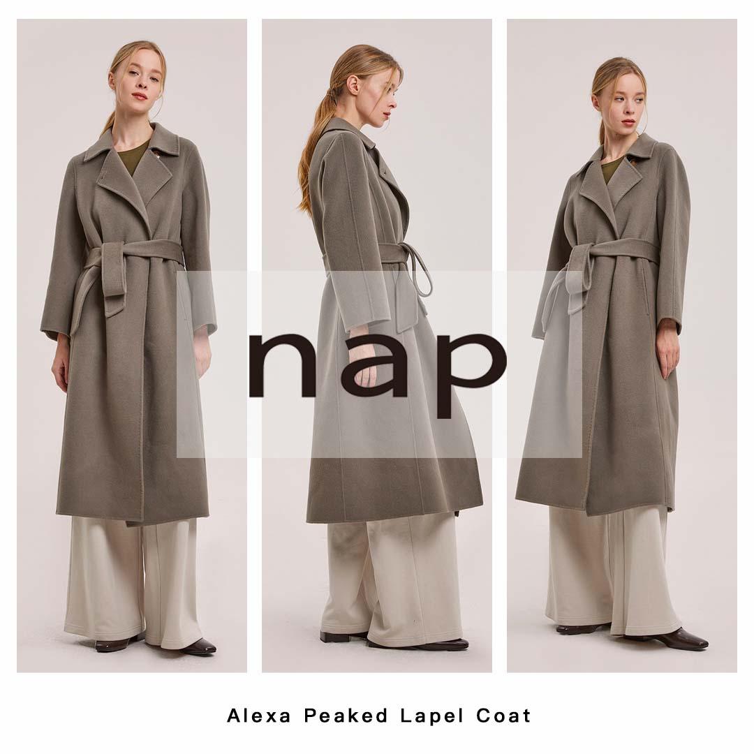 Alexa Peaked Lapel Coat