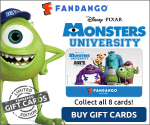 Disney*Pixar Monsters University Gift Cards