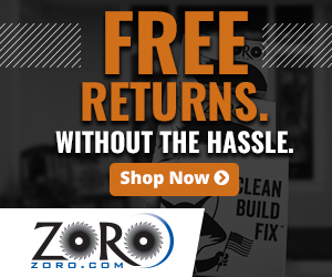 Free Returns. Without the hassle at Zoro.com