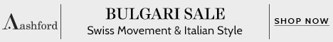 Ashford Promotion Code - Up to 75% Off Bulgari Watches