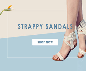 Get Up to 15% OFF Strappy Sandals.