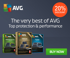 Get 20% off AVG Internet Security Unlimited! Banking, browsing, shopping; extra protection for you.