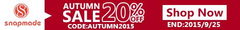 Snapmade 2015 - Autumn Sale 20% Off Deals - 468*60