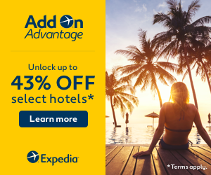 Expedia Promo Code 2018 - Add On Advantage, up to 43% off select hotels