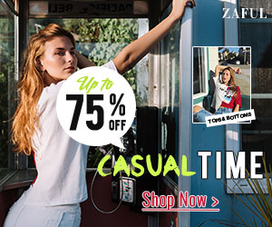 Zaful UK: £45-10%,  £75-12%, £105-15% code: SALE15 Valid: 4.27-5.27