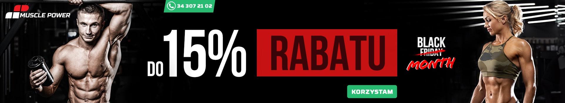 do 15% rabatu