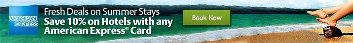 Save 10% on Hotels with any AMEX. Ends 6/30