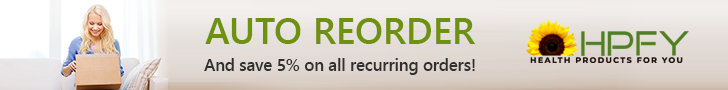 Sign up for Auto-Reorder and Save 5% on all Recurring Orders