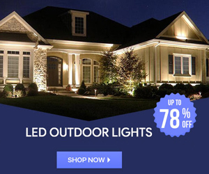 Save Up to 78% on LED Outdoor Lights