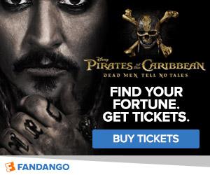 Fandango - Pirates of the Caribbean: Dead Men Tell No Tales Ticketing Banner