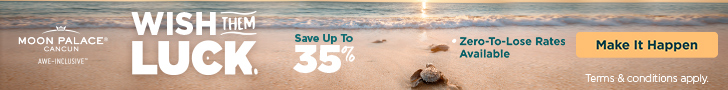 6th night free. Make up for missed travel. Up to 30% off all-inclusive.