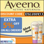 Aveeno Specials - Additional 5% Off on all orders