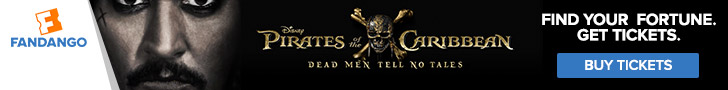Fandango - Pirates of the Caribbean: Dead Men Tell No Tales Ticketing Banner