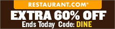 Restaurant.com Weekly Promo Offer 234 x 60