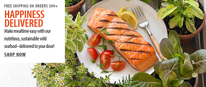Happiness Delivered! SAVE 5% On Healthy & Delicious Wild Seafood - Fast, Easy & Delicious - From Vit
