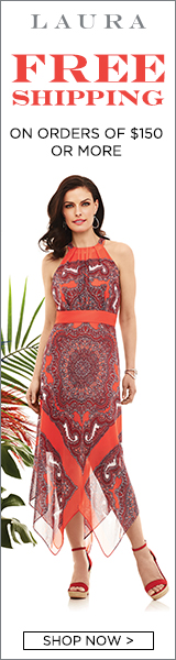 FREE Shipping on all orders $150+ at Laura.ca!