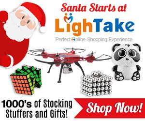 Santa starts at LighTake.com Holiday Banners
