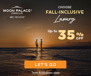 Vacation in full bloom. Up to 30% off all-inlusive luxury at The Grand at Moon Palace. Safe travels.