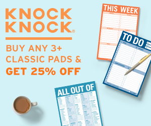 Knock Knock - Buy 3+ Classic Pads, Get 25% Off!